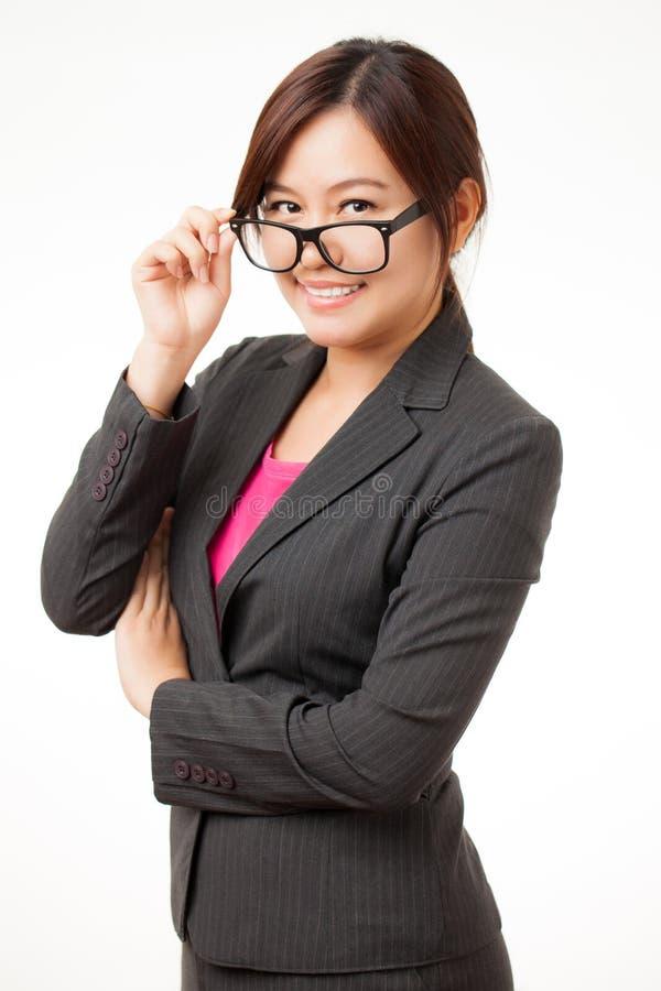 Mulher de funcionamento asiática imagens de stock