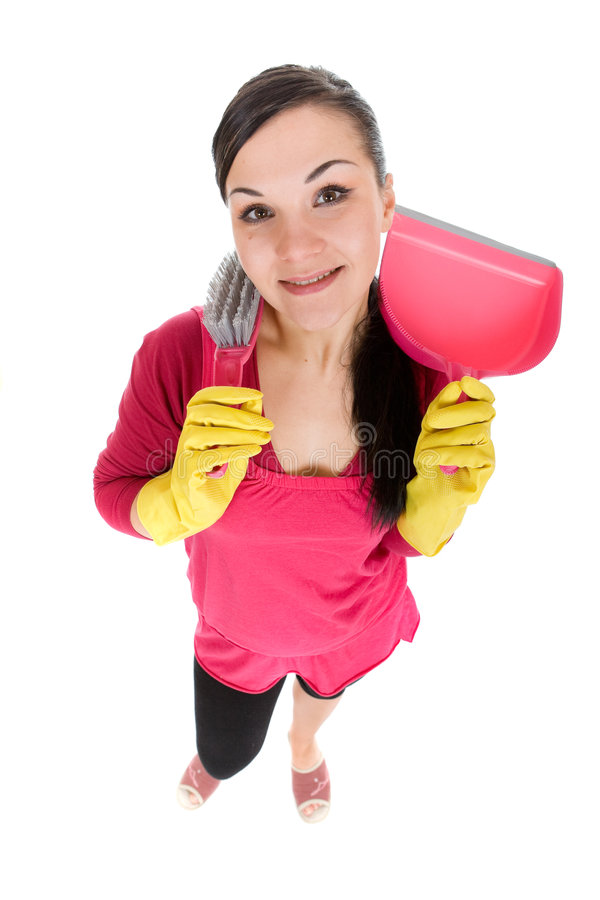 Mulher de limpeza imagem de stock royalty free