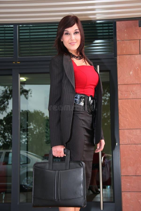 Mulher de negócio à moda imagem de stock