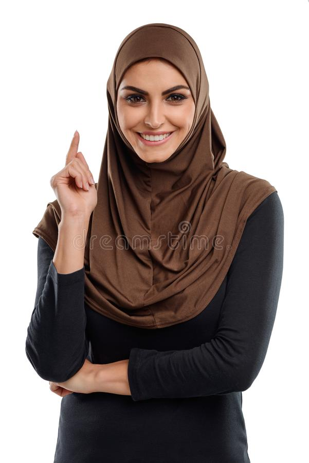 Mulher de negócio árabe foto de stock