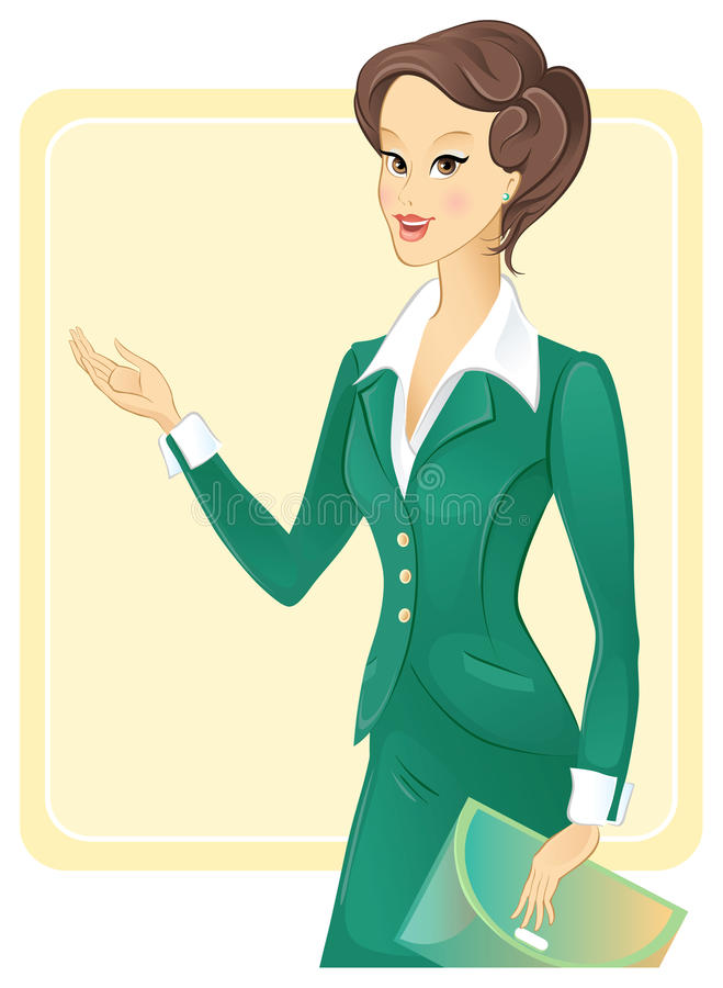 Mulher de negócio ilustração do vetor