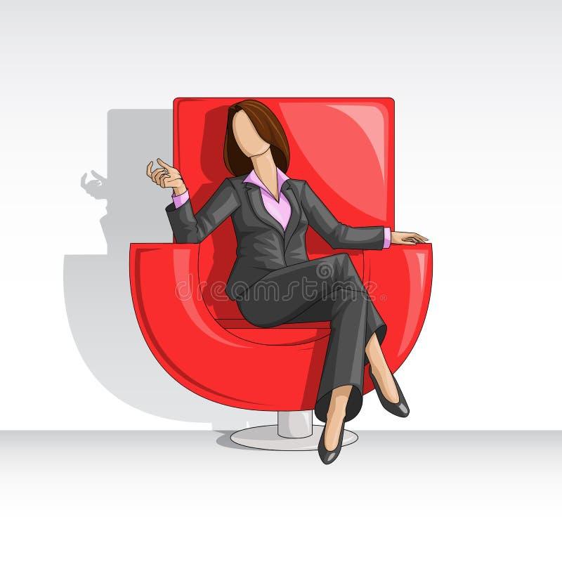 Mulher de negócio ilustração royalty free