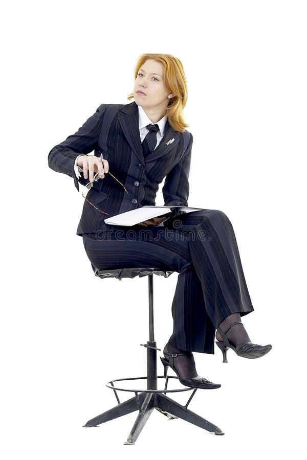Download Mulher de negócio foto de stock. Imagem de caderno, menina - 525440
