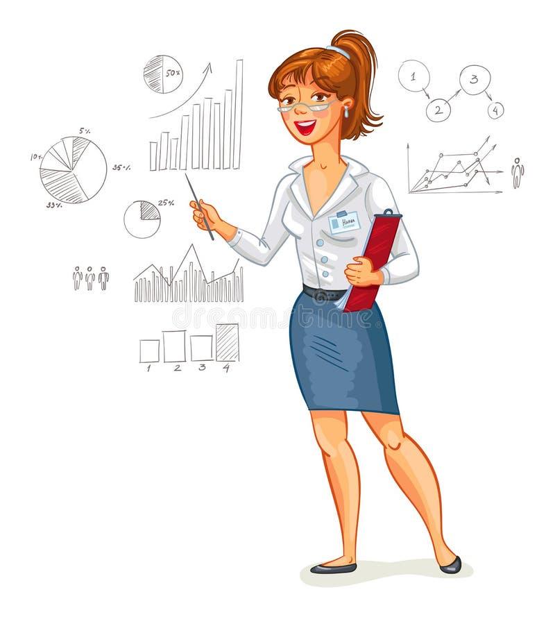 Mulher de negócio - 2 ilustração royalty free
