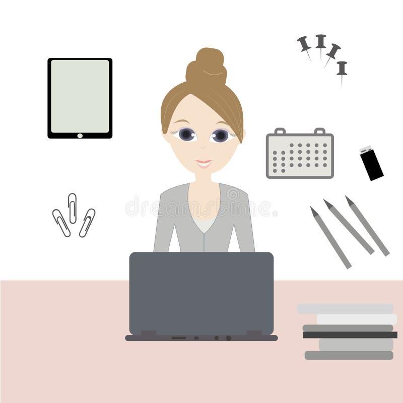 Mulher de negócio - 2 ilustração stock