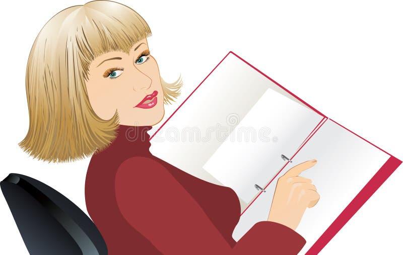 Mulher de negócio ilustração stock