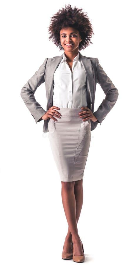 Mulher de negócio afro-americana foto de stock