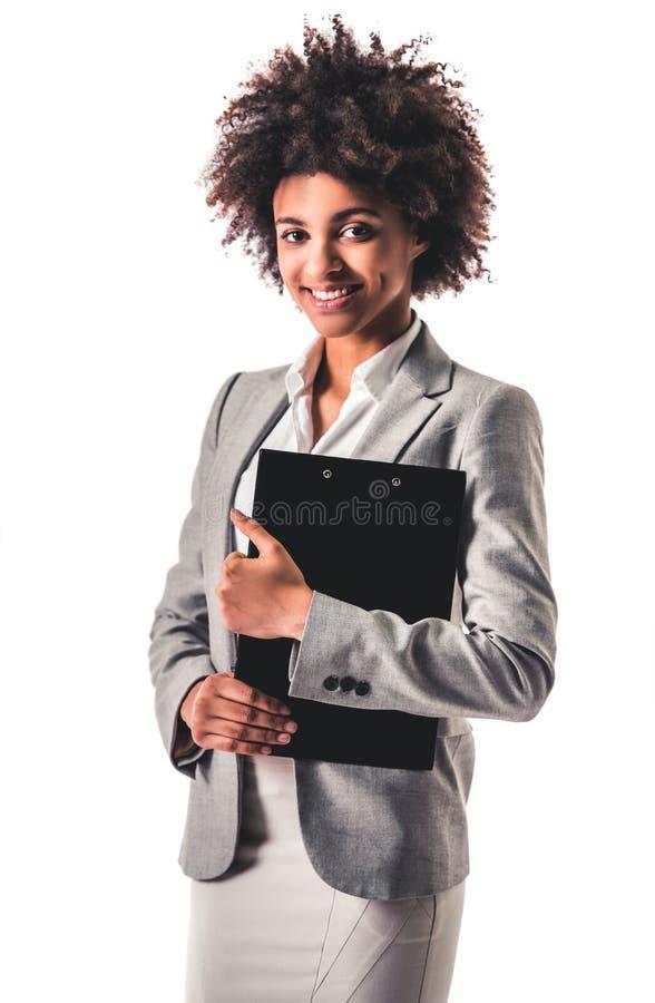Mulher de negócio afro-americana imagem de stock royalty free