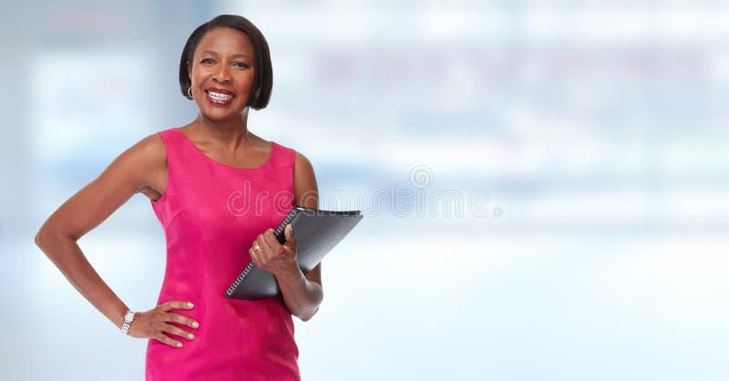 Mulher de negócio afro-americano imagem de stock royalty free