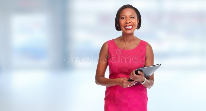 Mulher de negócio afro-americano fotografia de stock