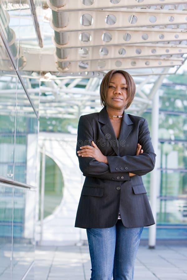 Mulher de negócio americana do africano negro foto de stock