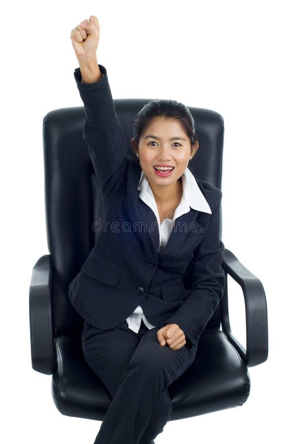 Mulher de negócio asiática bem sucedida imagem de stock