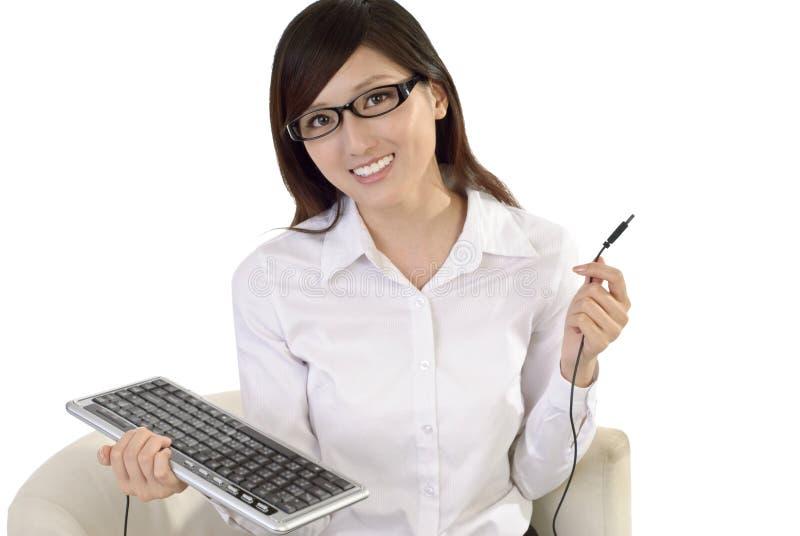 Mulher de negócio asiática bonita fotografia de stock royalty free
