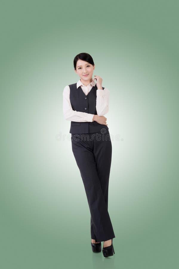 Mulher de negócio asiática confiável imagem de stock royalty free