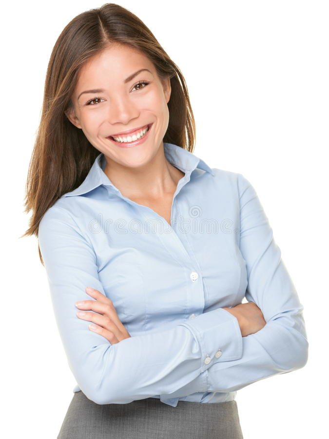 Mulher de negócio asiática de sorriso foto de stock