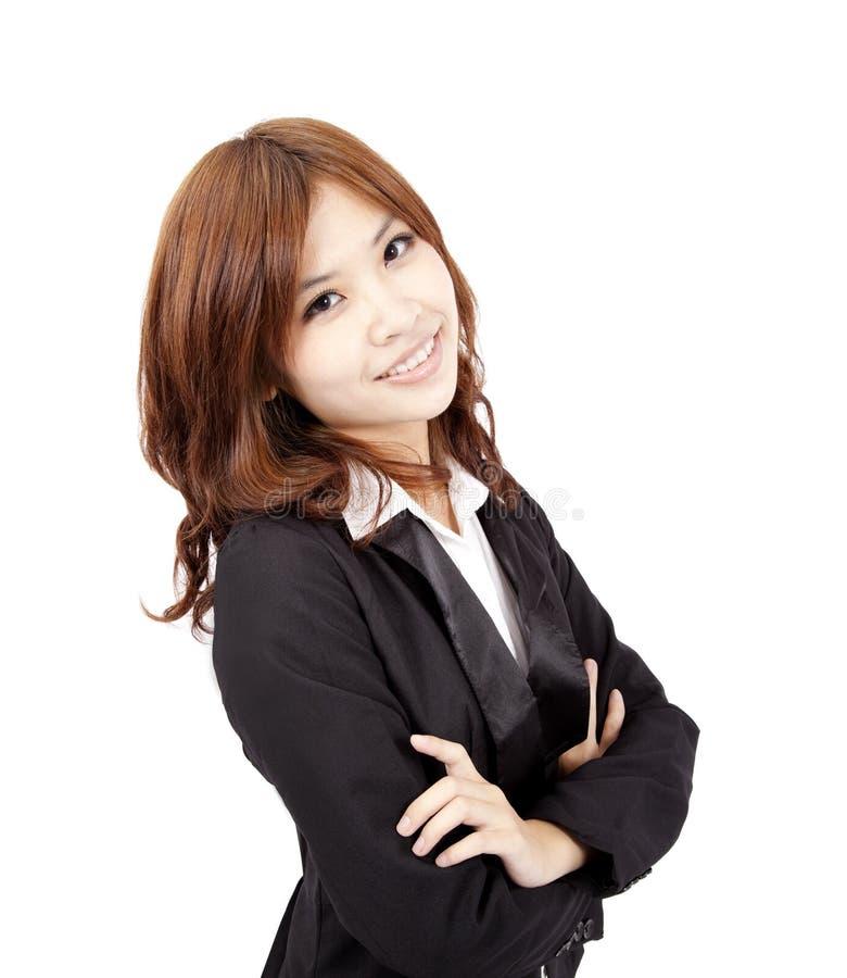 Download Mulher De Negócio Asiática De Sorriso Dos Jovens Imagem de Stock - Imagem de consideravelmente, calmo: 16870053