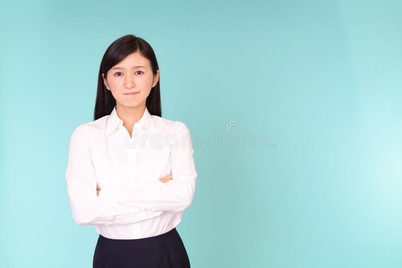 Mulher de negócio asiática descontentada imagem de stock royalty free