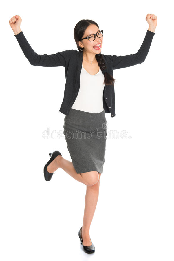 Mulher de negócio asiática do corpo completo imagens de stock royalty free