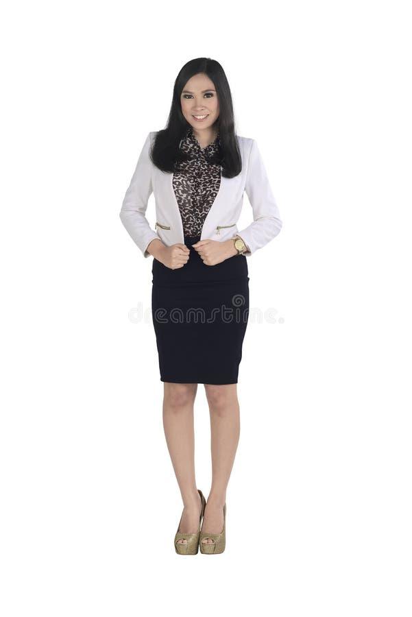 Mulher de negócio asiática nova que veste a roupa formal fotografia de stock royalty free