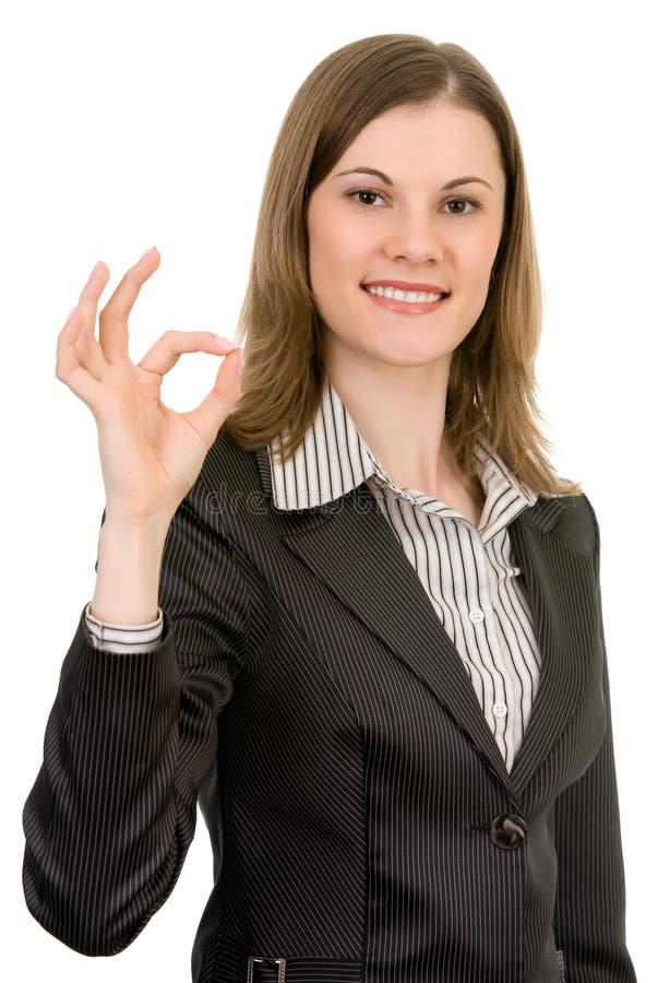 Mulher de negócio atrativa. Isolado no branco. imagens de stock royalty free