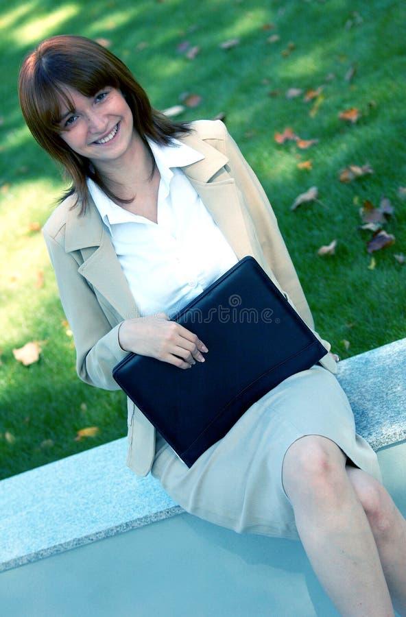 Mulher de negócio azul do matiz imagens de stock royalty free