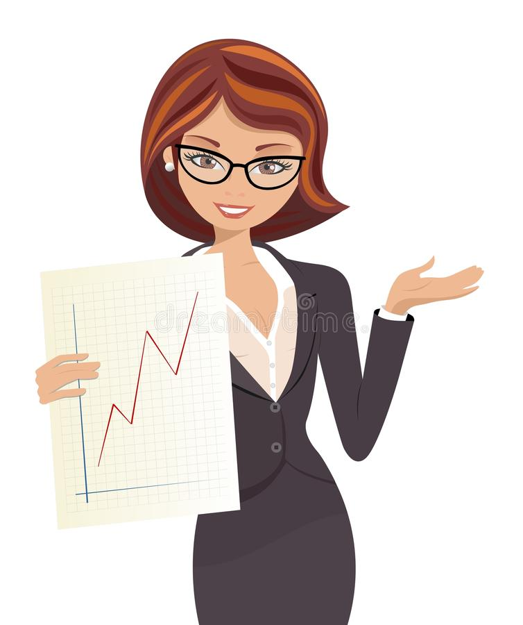 Mulher de negócio bem sucedida ilustração royalty free
