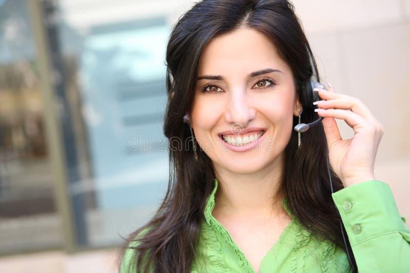 Mulher de negócio bonita fotografia de stock