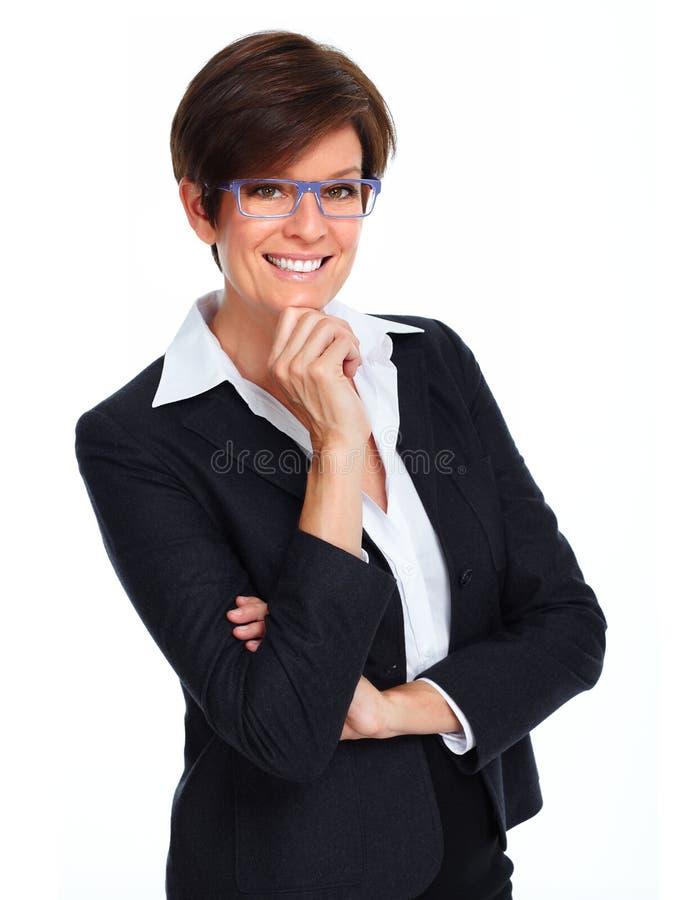 Mulher de negócio bonita com penteado curto imagens de stock royalty free