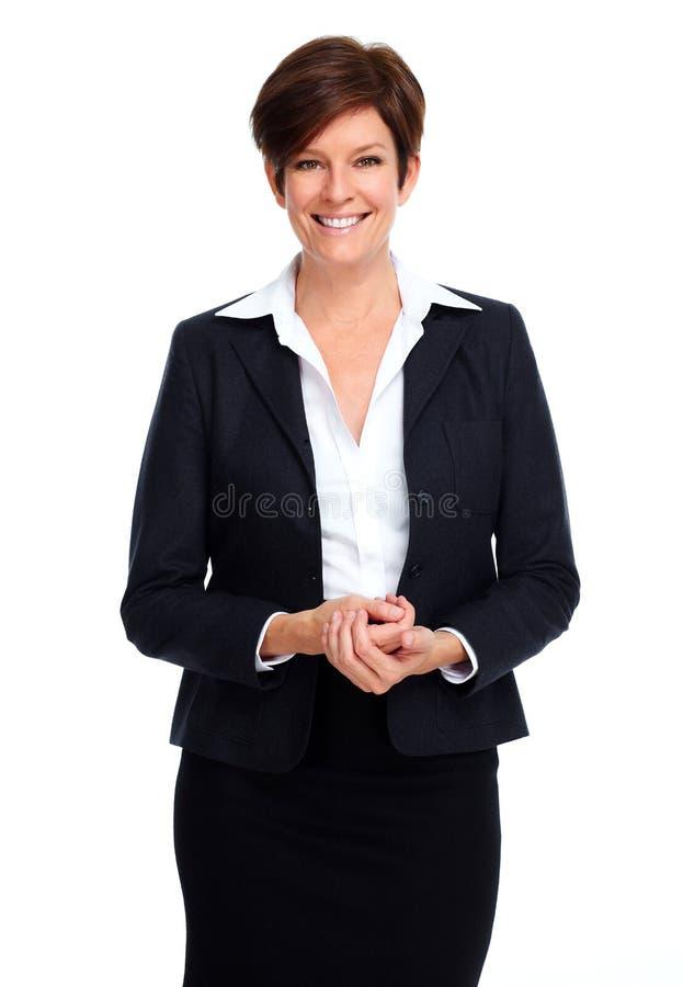 Mulher de negócio bonita com penteado curto fotos de stock