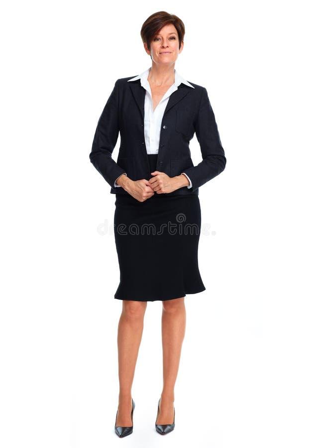 Mulher de negócio bonita com penteado curto fotografia de stock royalty free