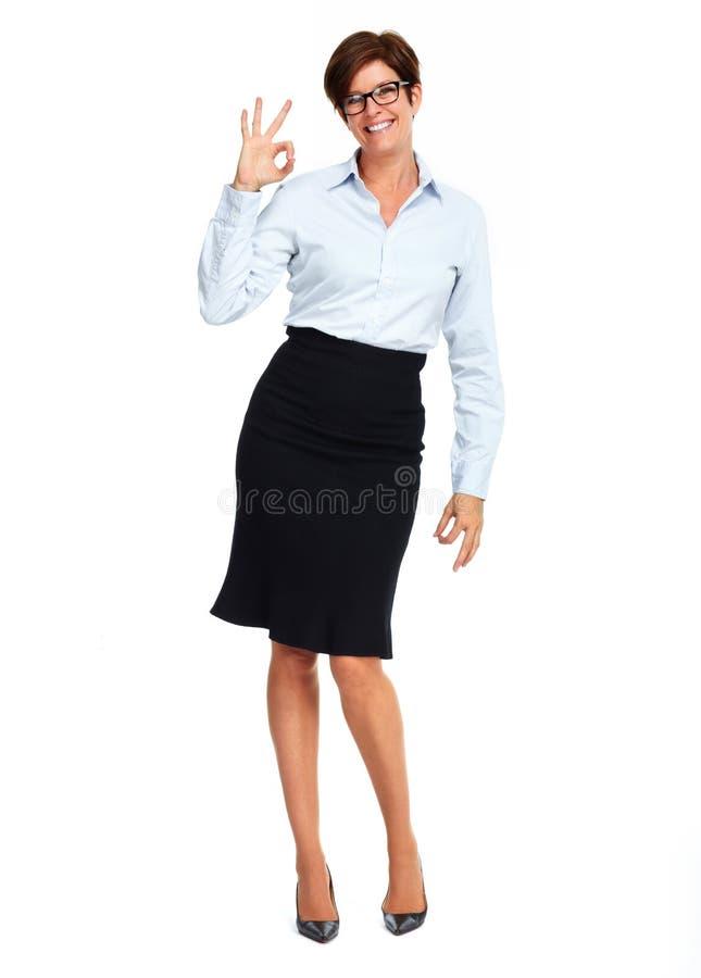 Mulher de negócio bonita com penteado curto foto de stock royalty free