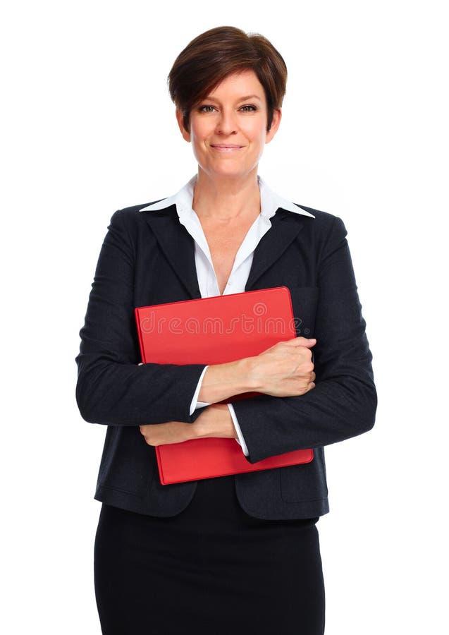 Mulher de negócio bonita com penteado curto fotos de stock royalty free