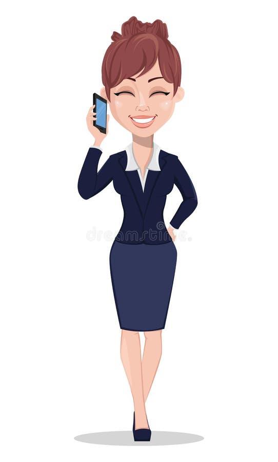 Mulher de negócio bonita na roupa do estilo do escritório ilustração stock