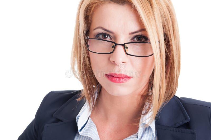 Mulher de negócio Bossy imagens de stock