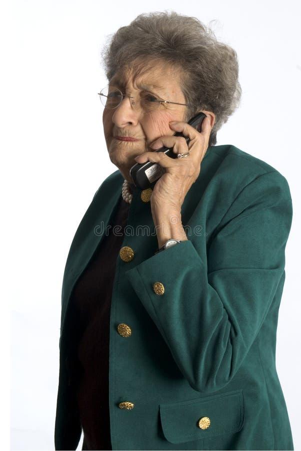 Mulher de negócio com atitude fotografia de stock