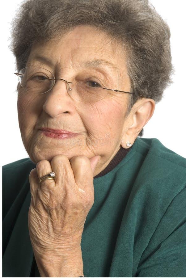 Mulher de negócio com atitude fotografia de stock royalty free