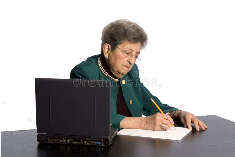 Mulher de negócio com atitude fotos de stock royalty free