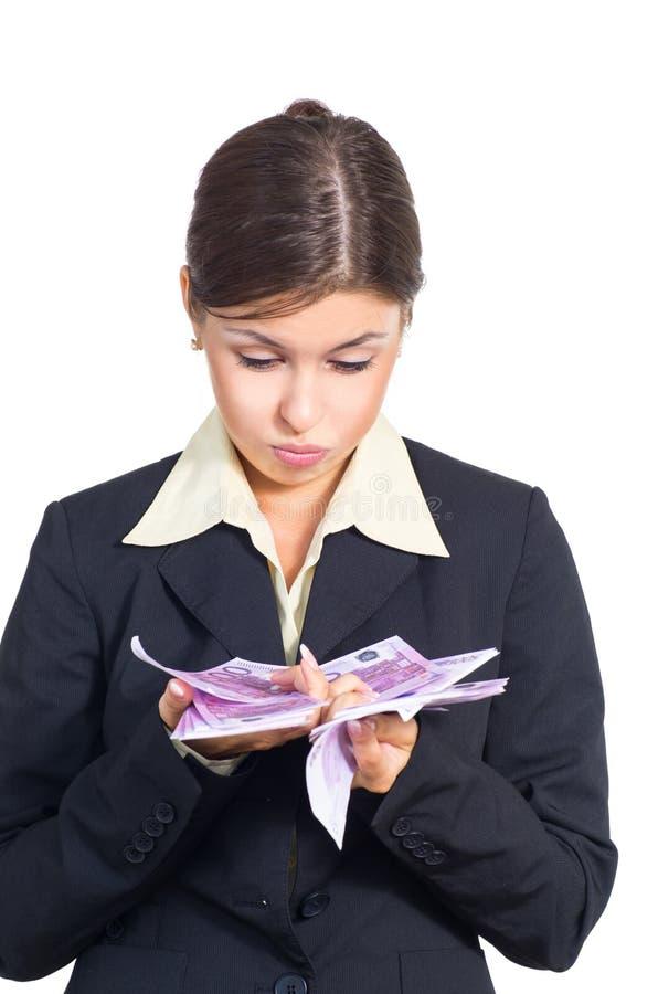 Download Mulher De Negócio Com Dinheiro Foto de Stock - Imagem de gorgeous, caucasiano: 26509582