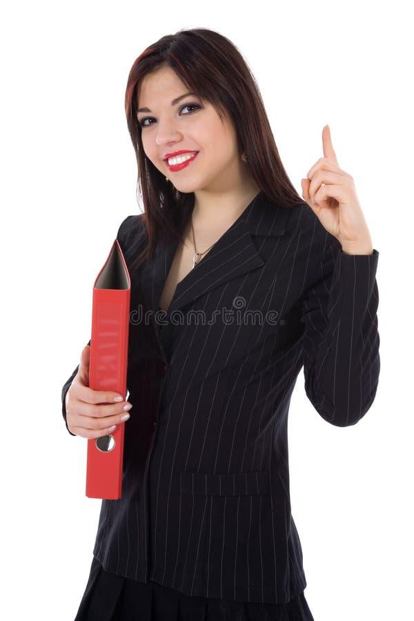 Mulher de negócio com dobrador imagens de stock royalty free