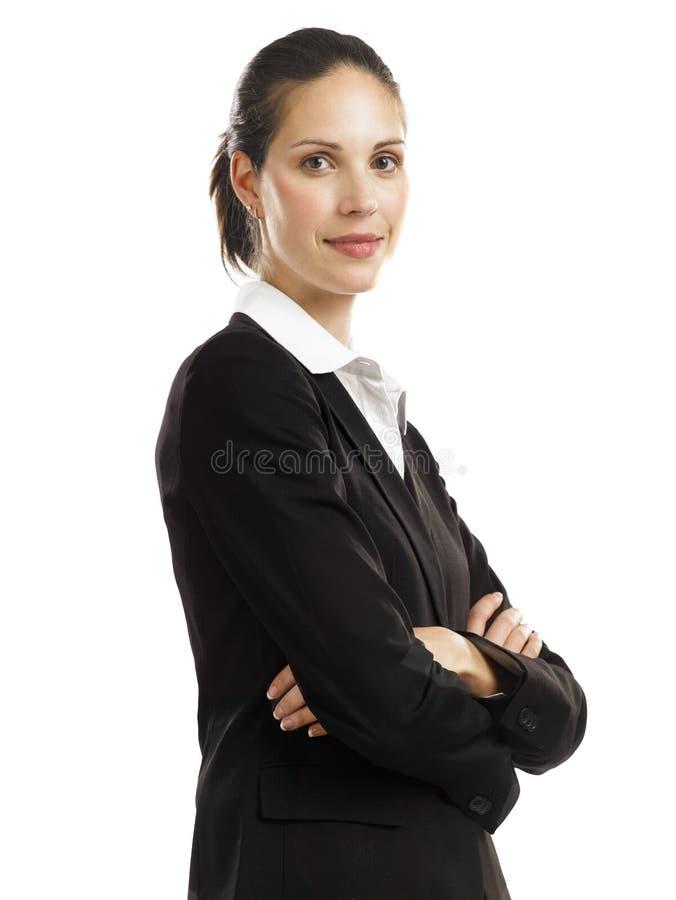 Mulher de negócio com terno preto 2 imagens de stock