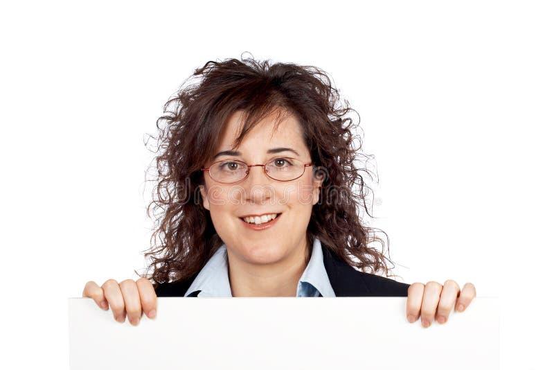 Mulher de negócio curiosa foto de stock