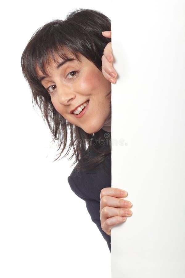 Mulher de negócio curiosa imagens de stock