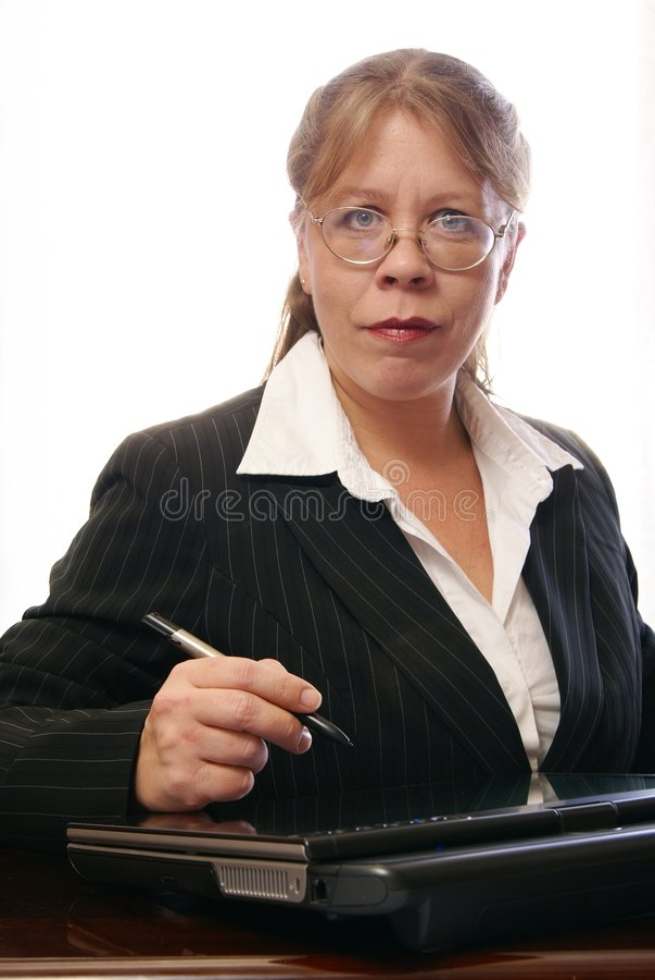 Mulher de negócio da alta tecnologia imagens de stock royalty free