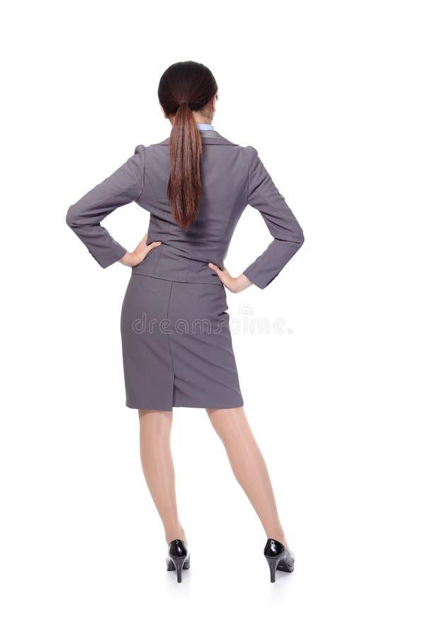 Mulher de negócio da parte traseira fotos de stock royalty free