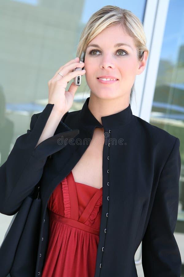 Mulher de negócio de Blionde imagens de stock royalty free