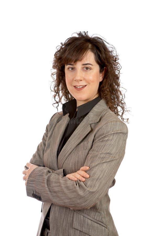 Mulher de negócio de sorriso imagem de stock