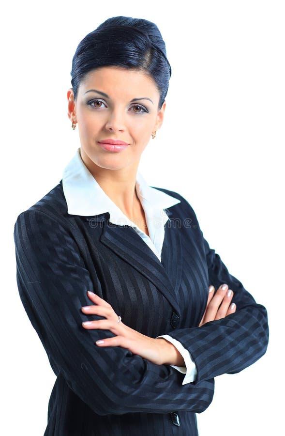 Mulher de negócio de sorriso foto de stock