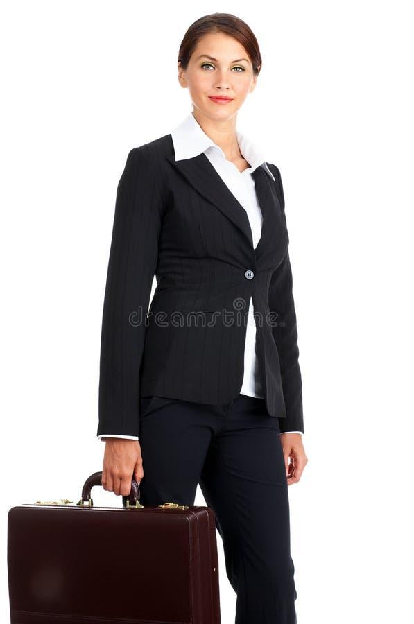 Mulher de negócio de sorriso fotos de stock