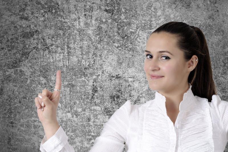 Mulher de negócio de sorriso bonita imagem de stock