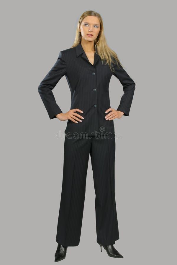 Mulher de negócio de sorriso bonita nova fotos de stock royalty free